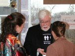 William S. Wilson, 2008, at the HistoRAY exhibition opening at the Mistretta Gallery, Photo by Chloe Harrison-Ach